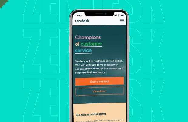 Zendesk on phone