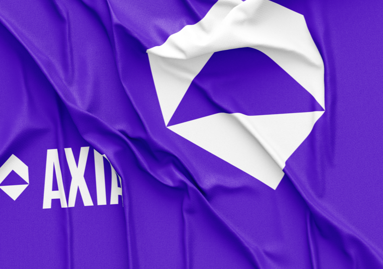 Purple AXIA flag