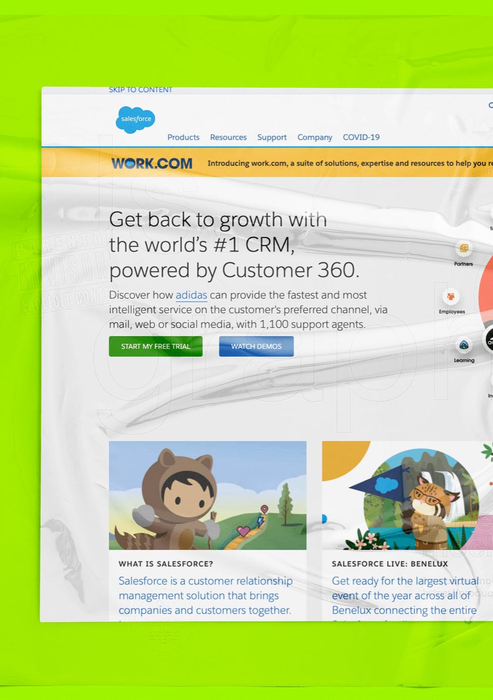 Salesforce webpage